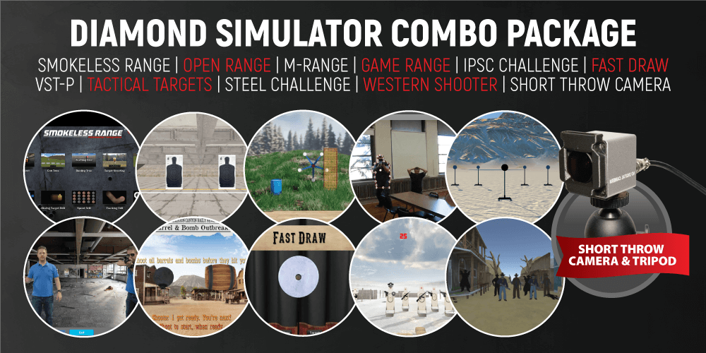 Diamond Smokeless Range ® Simulator Combo Package (with Short Throw Camera)
