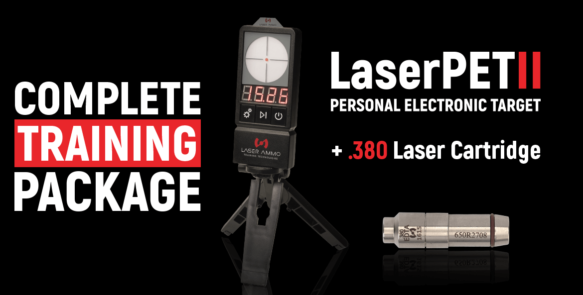 LaserPET™ II Electronic Target + SureStrike™ 380 Cartridge