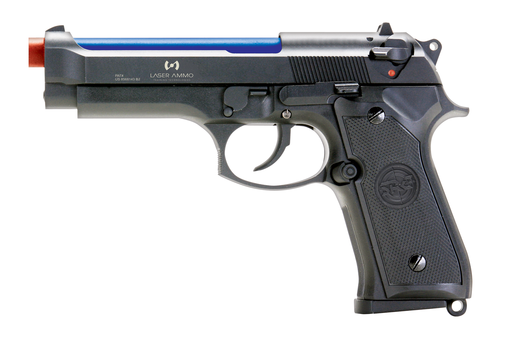 Recoil Enabled Training Pistol- Laser Ammo M9- CO2