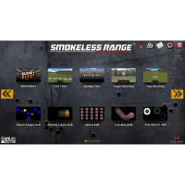 Smokeless Range 2.0 ® Simulator with a Short Throw Camera