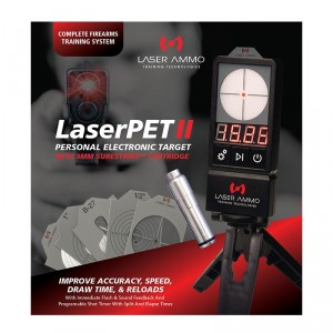 LaserPET™ II Electronic Target + SureStrike™ 9mm Cartridge