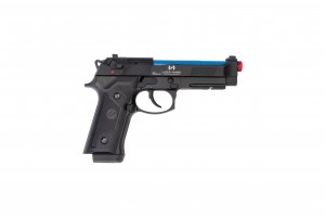 Recoil Enabled Training Pistol- Laser Ammo M9- Green Gas